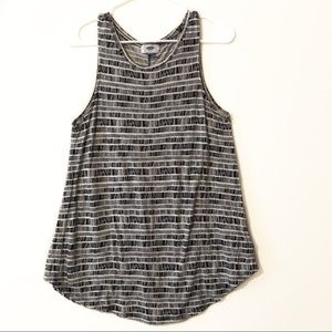 OLD NAVY | Black and white striped tank top